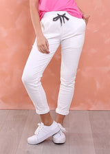 RILEY DENIM JOGGER - WHITE