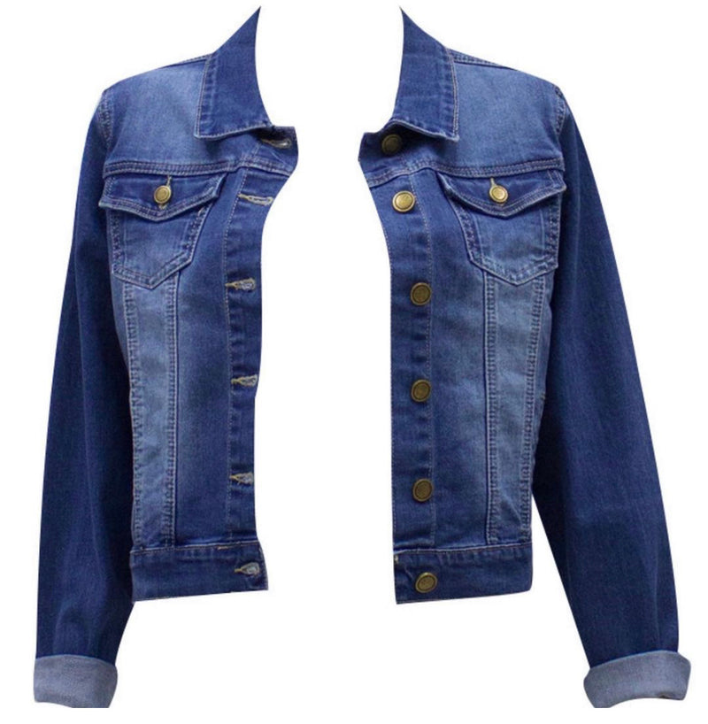 Eve Denim jacket - mid Blue Wash