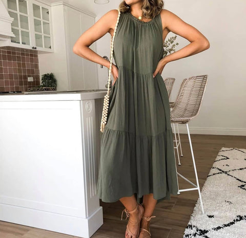 Estella Dress - khaki