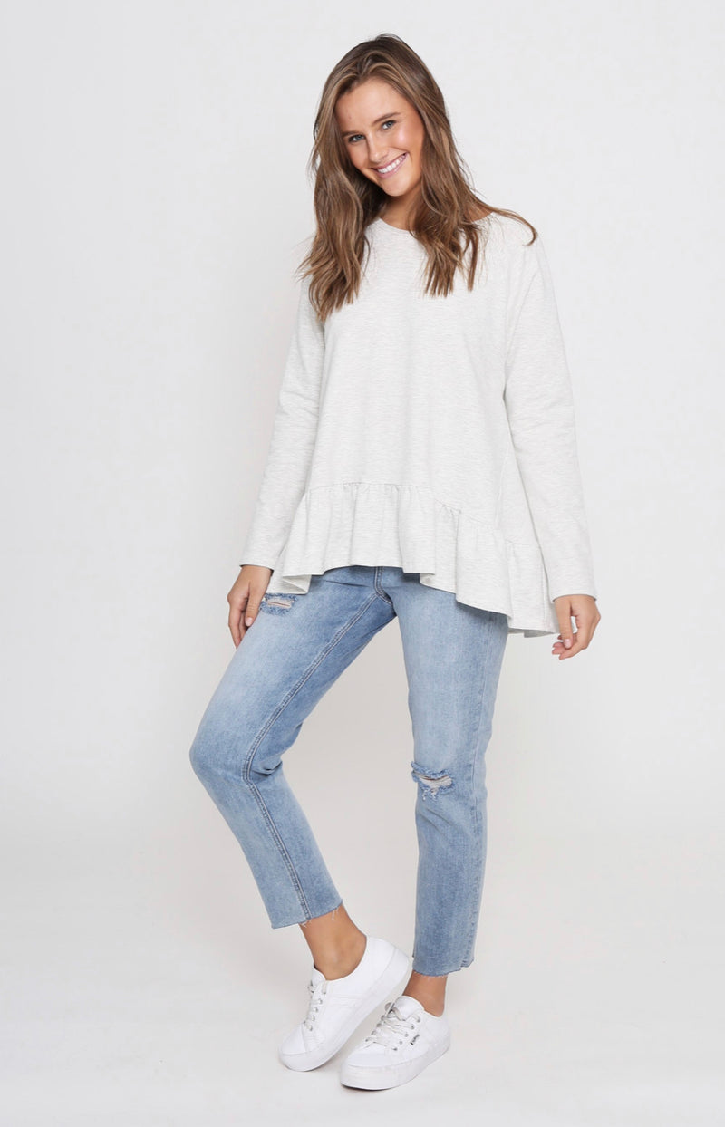 Amy Frill Top - Grey