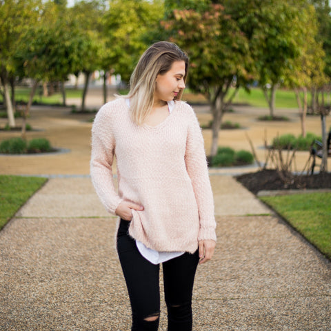 Fluffy Knit - Blush