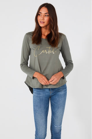 RIO LONG SLEEVE TOP - SAGE