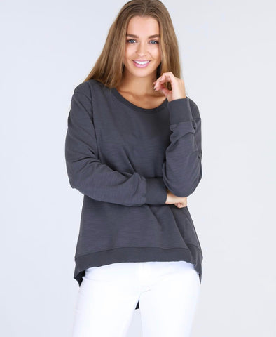 Newhaven Sweater - Charcoal  || 3rdStory