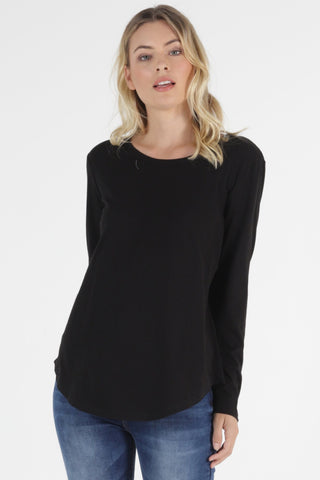 Megan L/S Top - Black