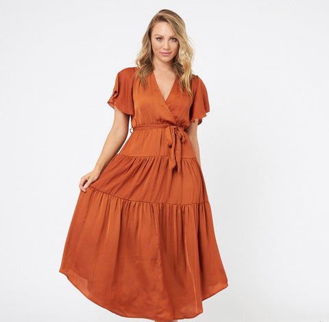 Talullah Dress - Brick