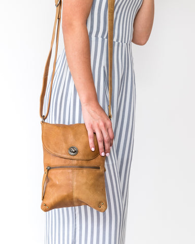 Tayla Bag - Tan || Rugged Hide