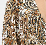 Kelly paisley maxi dress