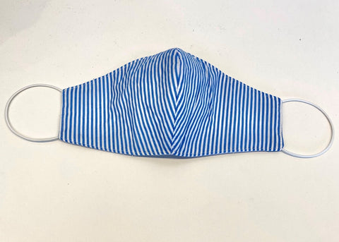 Face Masks - Blue Pinstripes
