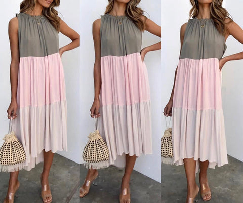 Estella Dress - Blush Splice