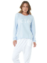 Lucy Logo Sweater - Ice Blue || CLÉ