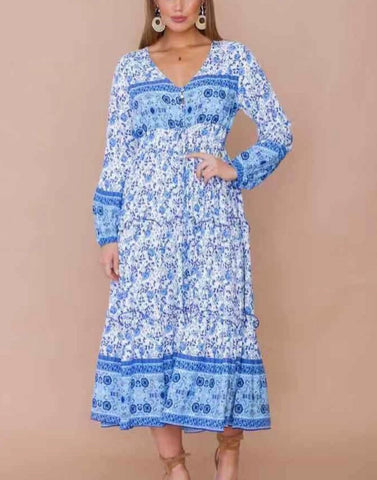 Kali Dress - Blue