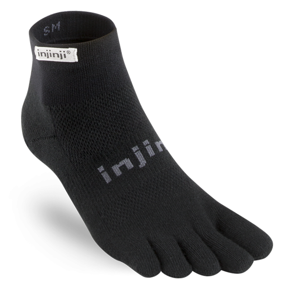 Injinji Run Originalweight Mini-Crew. Unisex (black)