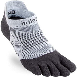 Injinji Run Lightweight No Show. Unisex (Gray)