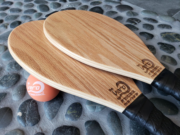 TFC Frescobol double paddle set [Oak]