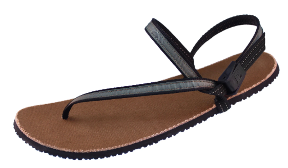 Earth Runners - Children's Minimalist Sandal. Unisex (grey style lace)