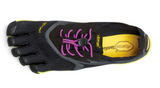 Vibram V-run. Women's (black/yellow/purple)
