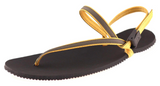 Earth Runners - Children's Minimalist Sandal. Unisex (yellow lace)