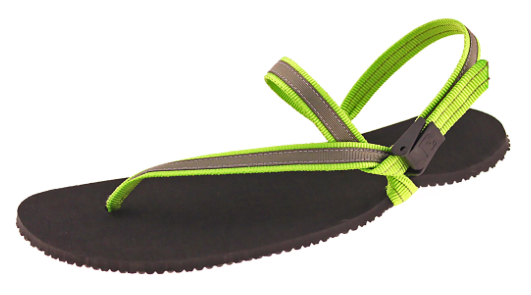 Earth Runners - Children's Minimalist Sandal. Unisex (green lace)