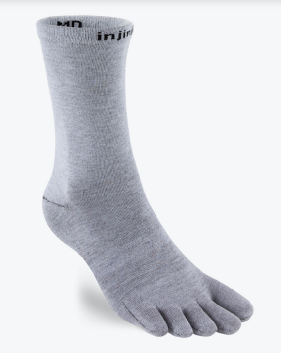 Injinji Liner Crew. Men's (Grey)