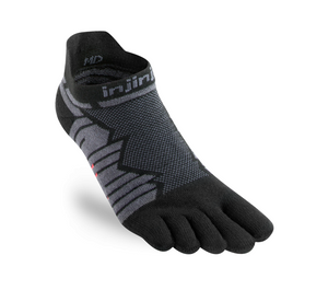 Injinji Ultra Run Lightweight No-Show. Unisex (Onyx)