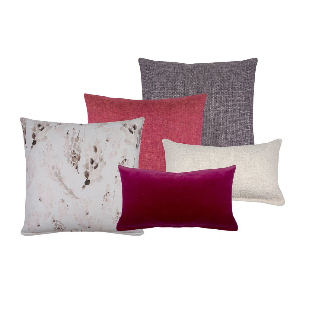 Carmine Nubby Ivory Decorative Pillow