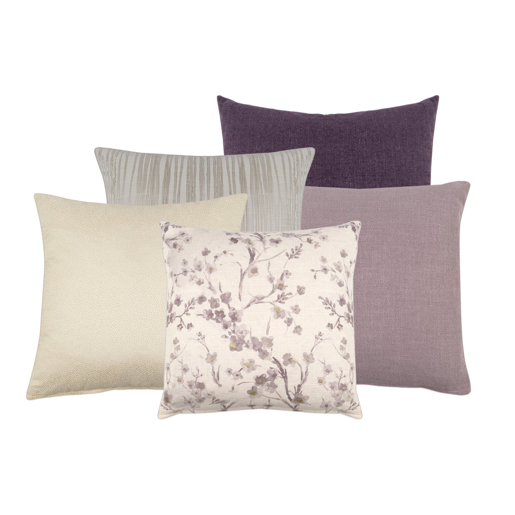 Cornelia Purple Floral Decorative Throw Pillow