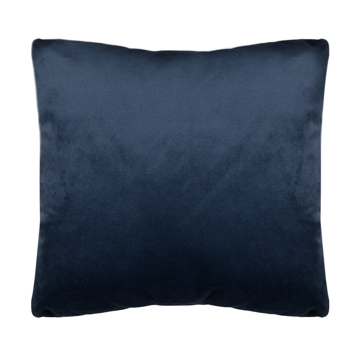 Perry Navy Velvet Decorative Throw Pillow