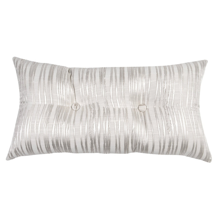 Perry Ivory Strie Tufted Pillow