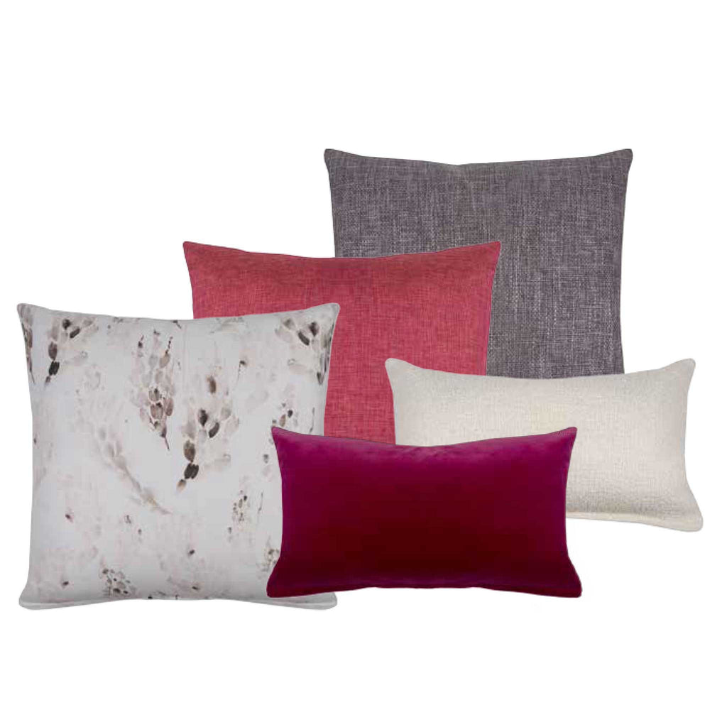 Carmine Pink Shimmer Decorative Pillow