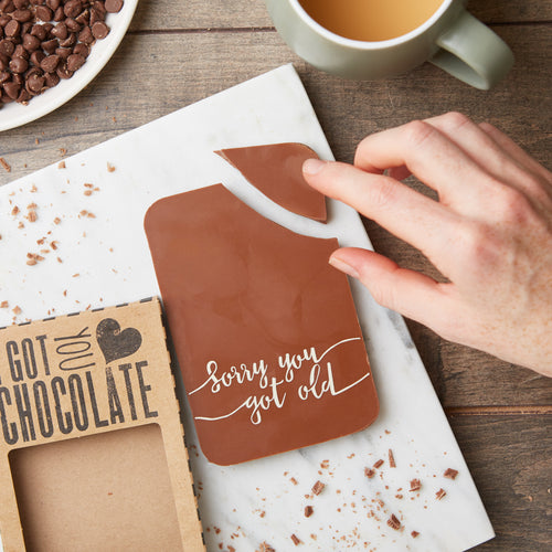 Sorry You Got Old Belgian Milk Chocolate Bar | Funny Birthday Gift