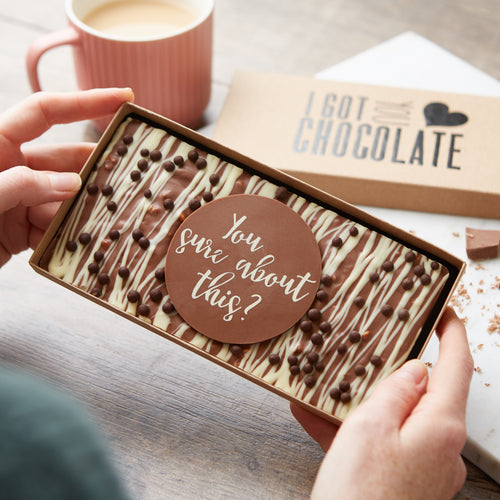 You Sure About This? Chocolate Honeycomb Slab | Funny Engagement Gift