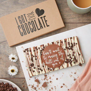 Can't Wait To Marry The Hell Out Of You Honeycomb Chocolate Slab | Gift for Fiancé