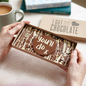 First Anniversary Gift for Him - 'You'll Do' Chocolate Slab - Bagstock & Bumble