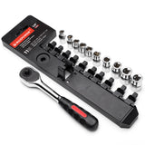 "11pcs 1/4"" Dr. SAE Socket Wrench Set"