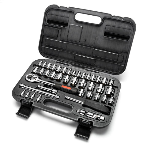 "42pcs 1/4"" & 3/8"" Dr. Socket Wrench Set"