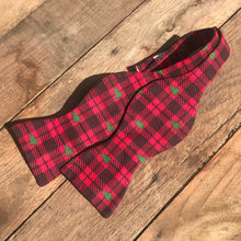 Christmas Tree Plaid Bow Tie