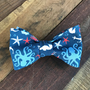 Nautical Octopus Bow Tie
