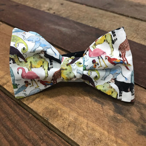 debry bow tie, animals, animal print, parrot, horses, racing,