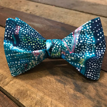 Teal Graffiti Bow Tie
