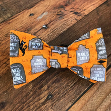 Tombstone and Spiderwebs Bow Tie