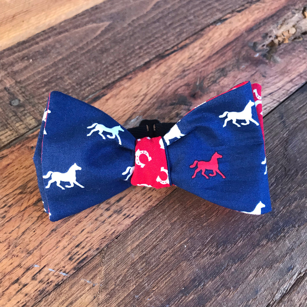 Horses and Horseshoes Bow Tie