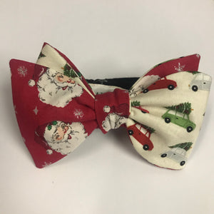 Saint Nick & Hauling Trees Double Sided Bow Tie