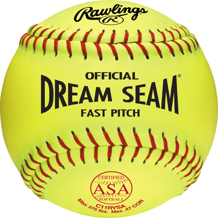 Rawlings Dream Seam Fastpitch 11 Inch ASA Ball: C11RYSA