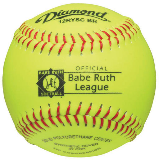 Diamond Babe Ruth Synthetic Fashpitch Softball 12 Inch: 12RYSCBR