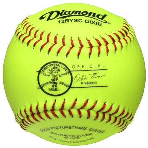 Diamond Dixie Youth 12 Inch Synthetic Fastpitch Softball: 12RYSCDIXIE