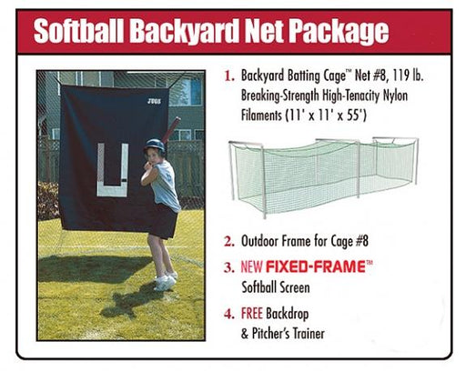 JUGS Softball Backyard Net Package