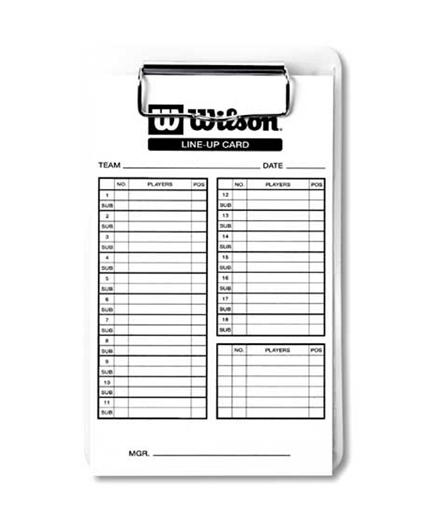 Wilson 3X Line Up Cards