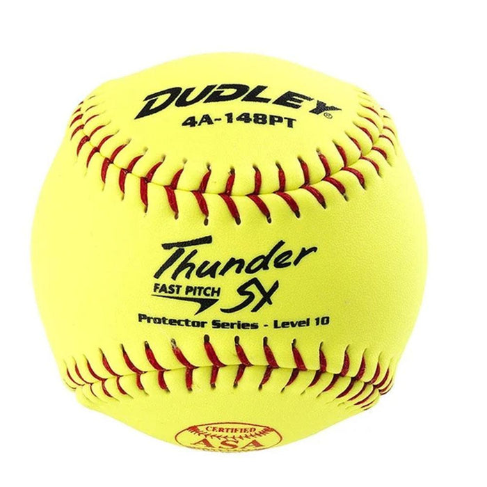Dudley Thunder SY Protector Series 11 Inch ASA Level 10 Fastpitch Softball - One Dozen: 4A148PT