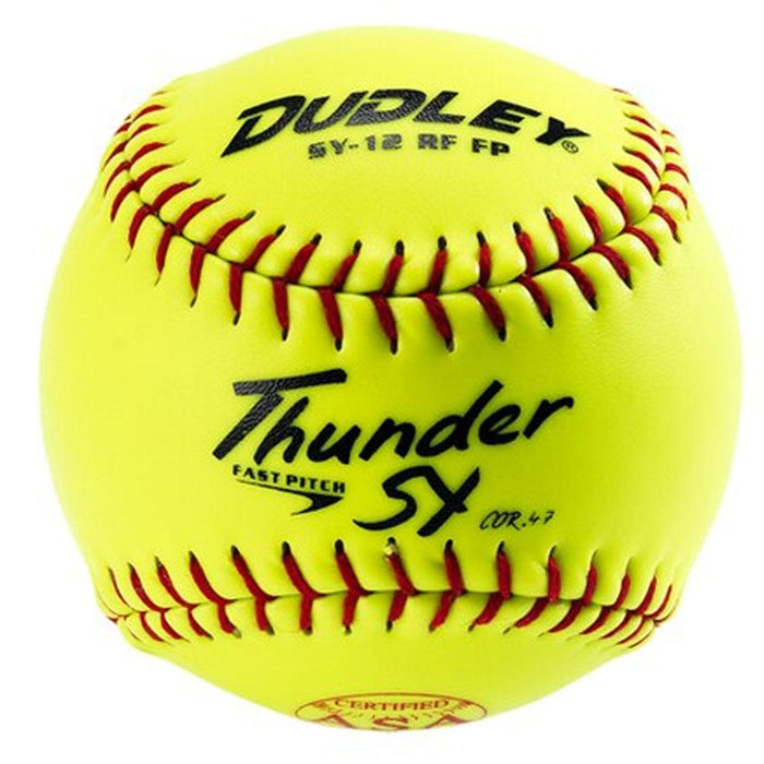 Dudley SY12-FP -ASA.47-375 Yellow Fastpitch Softball 12 Inch - One Dozen: 4A913Y
