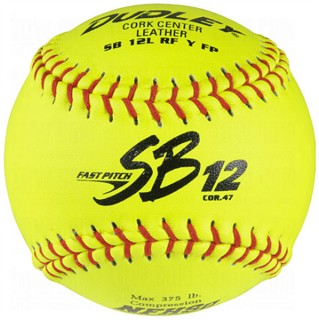 Dudley SB12LRF NFHS Only Fastpitch Softball 12 Inch